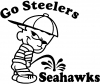 Go Steelers Pee On Seahawks Pee Ons Car Truck Window Wall Laptop Decal Sticker