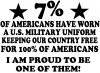 Proud To Be An America Soldier In Uniform Military Car Truck Window Wall Laptop Decal Sticker