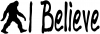 I Believe BigFoot Sci Fi car-window-decals-stickers
