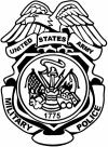 Military Police Badge United States Army Military car-window-decals-stickers