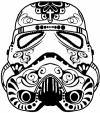 Star Wars Storm Trooper Sugar Skull Sci Fi Car Truck Window Wall Laptop Decal Sticker