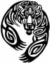 Tribal Indian native American Bear Western car-window-decals-stickers