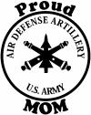 US Army Air Defense Artillery Proud Mom Military car-window-decals-stickers