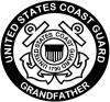 United States Coast Guard Grandfather Military Car Truck Window Wall Laptop Decal Sticker