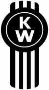 Kenworth Logo KW No Text Moto Sports Car Truck Window Wall Laptop Decal Sticker