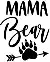 Mama Bear with Paw and Arrow Girlie Car Truck Window Wall Laptop Decal Sticker