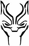 Black Panther Face Sci Fi car-window-decals-stickers