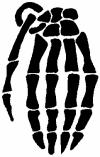 Skeleton Hand Grenade Skulls Car Truck Window Wall Laptop Decal Sticker