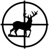 Deer in Scope  Hunting And Fishing car-window-decals-stickers
