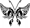 Butterfly 2 Butterflies Car Truck Window Wall Laptop Decal Sticker
