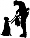 Hunter with Dog Hunting And Fishing car-window-decals-stickers