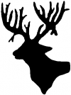 Deer Head Shadow Hunting And Fishing car-window-decals-stickers