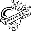 Princess Girlie car-window-decals-stickers