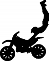 Dirtbike Trick 2 Moto Sports car-window-decals-stickers