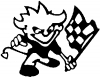 Racing flag devil Moto Sports car-window-decals-stickers