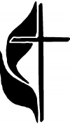 Methodist Cross Christian car-window-decals-stickers