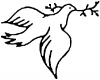 Open Dove  Christian car-window-decals-stickers