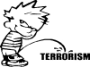 Pee on Terrorism Pee Ons car-window-decals-stickers