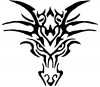 Tribal Dragon Enchantments Car Truck Window Wall Laptop Decal Sticker