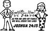 Stick Family JOSHUA 24:15 Decal