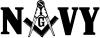 Freemason Navy Decal