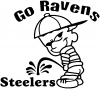 Go Ravens Pee On Steelers Decal