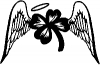 Four Leaf Clover With Wings