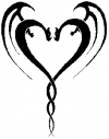 Tribal Dragon Heart Special Orders car-window-decals-stickers