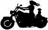 Women Biker With Jack Russell Terrier Special Orders car-window-decals-stickers