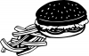 Cheeseburger and French Fries Business Car Truck Window Wall Laptop Decal Sticker