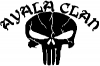 Ayala Clan Punisher Skull Special Orders car-window-decals-stickers