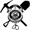 West Virginia State Police Pick Axe Shovel  Car Truck Window Wall Laptop Decal Sticker