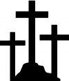 Three Crosses Christian car-window-decals-stickers