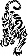 Tribal Cat Tribal car-window-decals-stickers