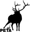 Pee On PETA Pee Ons car-window-decals-stickers