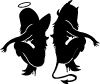 Twins of Good and Evil 2 Sexy car-window-decals-stickers